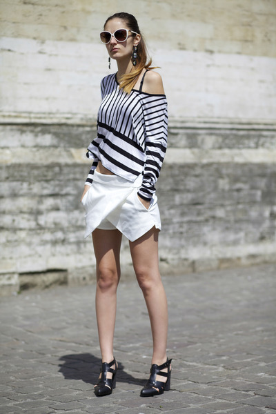 Zara skirt - River Island blouse