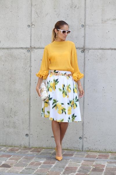 zaful sunglasses - zaful top - zaful skirt