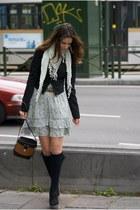 Forever 21 dress - pull&bear bag - new look wedges