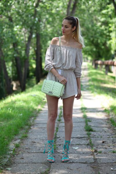 Lookbook Store romper - ami clubwear sandals
