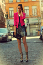 jennyfer jacket - versace heels