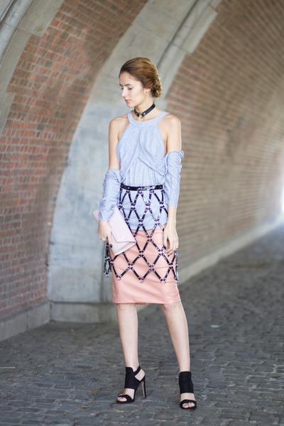 Choies necklace - Choies blouse - Choies accessories - Choies skirt