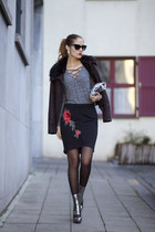 romwe sweater - Poppy Lovers bag - DressLink skirt