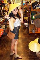 asian 3 unknown brand hat - Forever 21 dress - Target bag - Target sandals