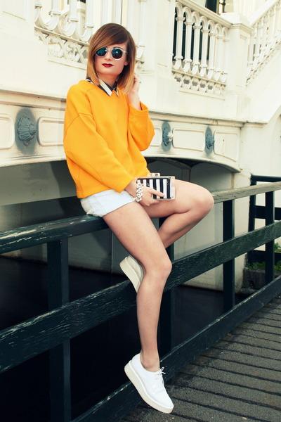 Zara jumper - Zara flats
