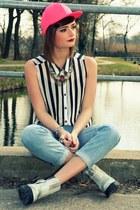 Monki jeans - H&M blouse