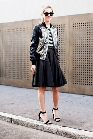 jacket - wayfarer Ray Ban sunglasses - strappy Alexander Wang sandals