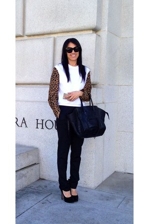 leopard 31 philip lim sweatshirt - black phantom Celine bag