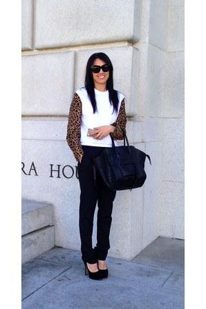 leopard 31 philip lim sweatshirt - black phantom Celine bag