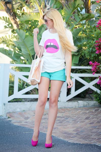 hot pink lookbookstore shirt