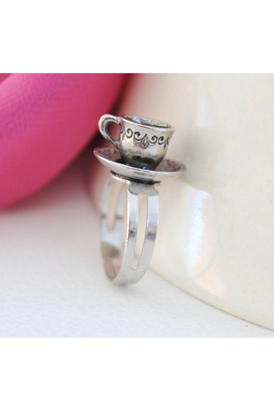 heather gray adjustable i Candy ring