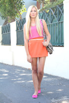 carrot orange asos skirt