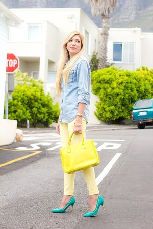 light yellow romwe jeans