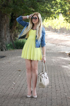 yellow Topshop dress
