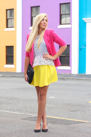 yellow asos skirt