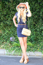 navy ann taylor dress