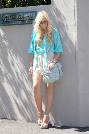 aquamarine Boohoo blouse