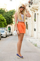 orange bubble asos skirt