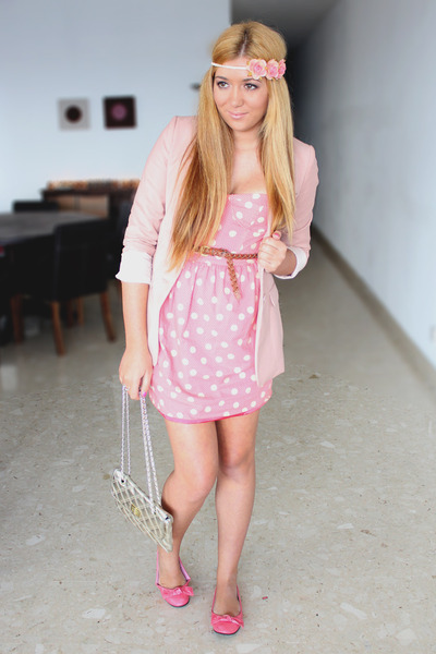 peach polka dots Topshop dress