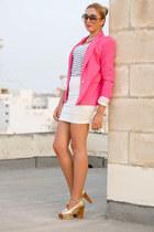 hot pink Zara blazer