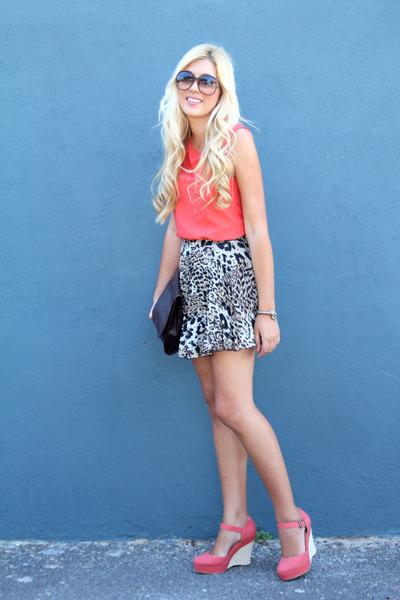 leopard print asos skirt