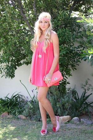 coral Zara dress
