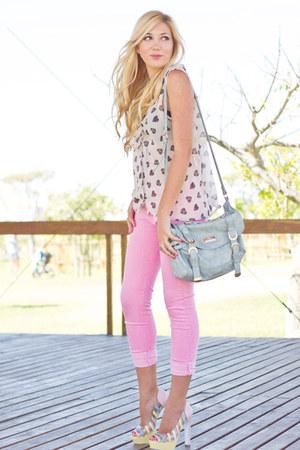 bubble gum Zara jeans