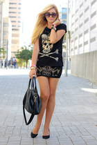 black skull Zara t-shirt