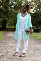 minit duster cameo jacket - white skinny vintage jeans