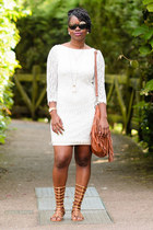 white lace Primark dress - Matalan sandals