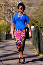 SPRING PRINT AND COBALT