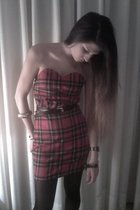 my own design dress - vintage belt - fair accessories - panties