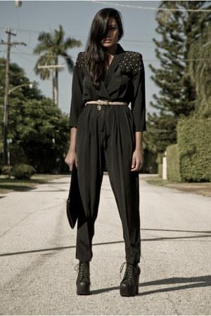 black vintage from Ebay jumper - black Jeffrey Campbell shoes