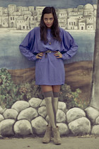 blue mini vintage dress - heather gray Ozone Socks stockings