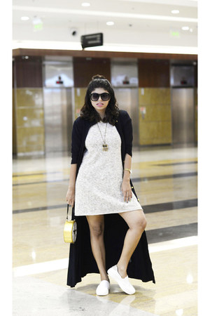 romwe bag - Zara shoes - Zara dress - Romwecom sunglasses