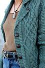 Teal-wool-aran-sweaters-direct-cardigan