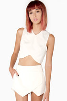 Origami Crop Tank in White