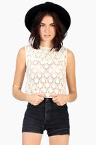 Crochet Crop Top In Ivory