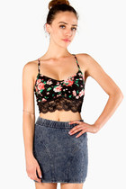 Rose Lace Bandeau Top