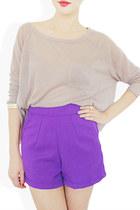 purple StyleSofia shorts