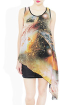 orange galaxy dress StyleSofia dress