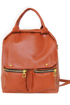 brick red two-way bagpack StyleSofia bag