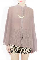 light brown StyleSofia shirt