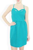 turquoise blue cutout dress StyleSofia dress