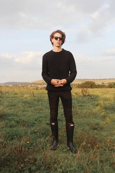 black Hunter boots - black skinny jeans Cheap Monday jeans