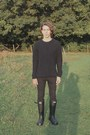 Black-hunter-boots-black-skinny-jeans-cheap-monday-jeans