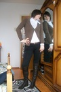 Brown-zara-cardigan-white-sisley-shirt-brown-yess-miss-pants-brown-vintage