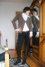 Brown-zara-cardigan-white-sisley-shirt-brown-yess-miss-pants-brown-vintage