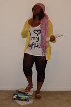 Forever21 scarf - Forever21 t-shirt - Target leggings - Ann Taylor Loft sweater