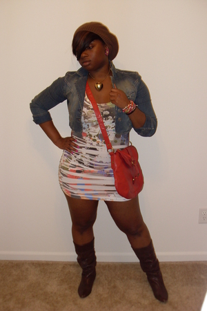 Wetseal hat - New York & Company necklace - Hydraulic jacket - Forever21 dress -
